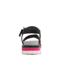 Millie's 妙丽 女士牛皮时尚休闲厚底一字式扣带凉鞋LV110BL8 黑色 34