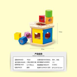 Hape E0407 六角分类积木盒