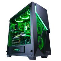 安钛克 龙焰 ATX中塔游戏主机台式电脑机箱RGB发光全侧透钢化玻璃
