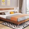 A家家具 北欧现代简约家具板式双人床 1.8米框架床