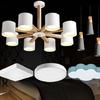 HD 吊灯 金属实木灯具(含全套LED光源) 实木套餐 869元(需用券)