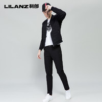 LILANZ 利郎 7QXK902 男士刺绣修身休闲裤