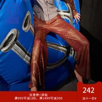 MUKZIN 密扇 1P7072 女士复古条纹高腰休闲裤