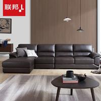 LANDBOND 联邦 DS087 简约现代真皮沙发