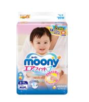 moony 尤妮佳 婴儿纸尿裤 M64片*4包