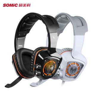SOMiC 硕美科 G910 耳机 (通用、头戴式、32Ω、黑色)