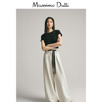 Massimo Dutti 06850901800-23 女士经典款短袖T恤 黑色 S