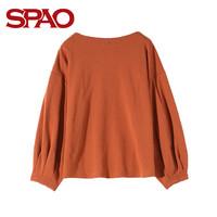 SPAO SPLW822S01 女士字母印花长袖T恤