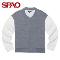 SPAO SAMZ648G21 女款拼接棒球服外套