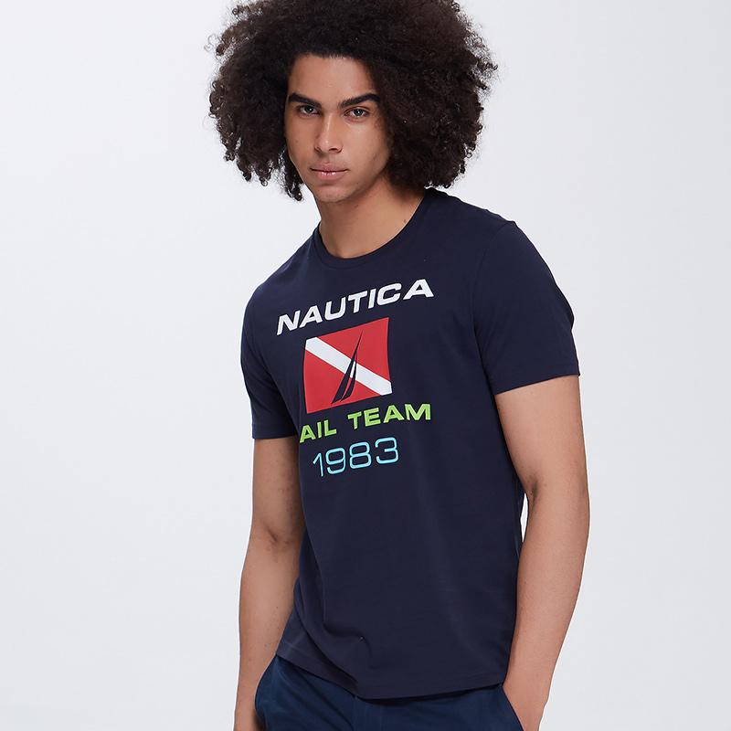 NAUTICA 诺帝卡 NA002704 男士圆领休闲短袖T恤 嫩绿色 S