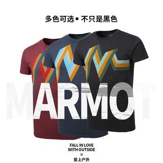 Marmot 土拨鼠 F900439 男士棉质圆领短袖T恤