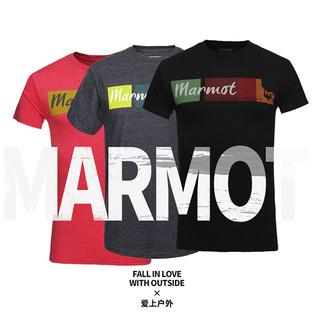 Marmot 土拨鼠 F59600 男士运动短袖T恤