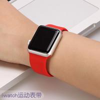 适用apple watch表带iwatch3/4代表带苹果手表表带硅胶运动型男女38/40/42/44mm潮iphone series S4/3/2/1潮