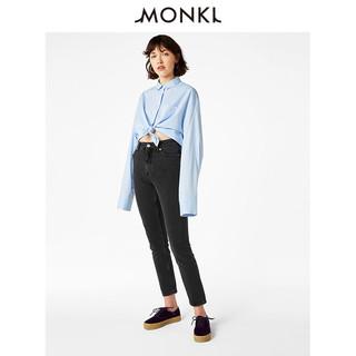 MONKI 0268058 女士纯棉高腰九分牛仔裤