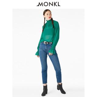 MONKI 0503228 女士小高领喇叭袖雪纺衬衫