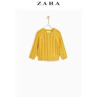 ZARA秋装 婴童麻花编织针织衫