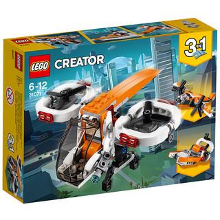 苏宁SUPER会员 : LEGO 乐高 创意百变系列 31071 双旋翼无人机