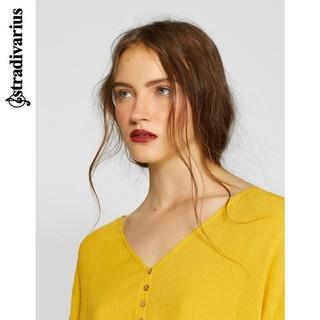 stradivarius 06041103306 女士打结系扣衬衫