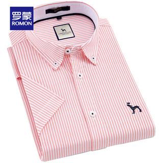 ROMON 罗蒙 8CS938807 男士牛津纺纯棉短袖衬衫