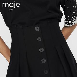 maje H18JIOMA 女士规则褶皱半裙