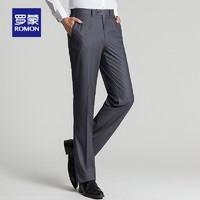 ROMON 罗蒙 TA09-9202878 男士修身直筒休闲裤 黑色(厚款)170/74A