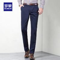 ROMON 罗蒙 KZ18HF36635 男士休闲直筒西裤 6635黑色(常规)29