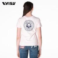 EVISU 1ESOTW7TS682SL 女士佛头图案短袖T恤