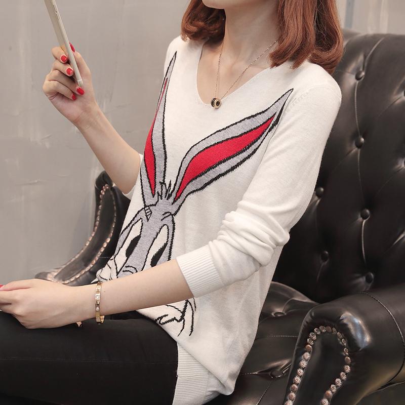 淑邑 SYD547507 女士长袖套头针织衫 米白色 S