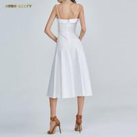 MISS SIXTY 682DJ0510000 纯棉抹胸吊带连衣裙
