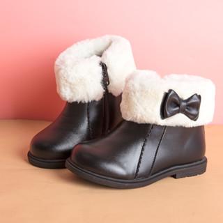 斯乃纳 儿童加绒雪地靴