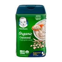 Gerber 嘉宝 有机燕麦婴幼儿米粉 1段 227g *7件