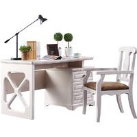 QuanU 全友 122021 美式书桌椅子组合