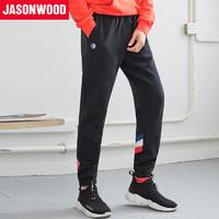 JASONWOOD 371818202200 男士运动束脚休闲裤