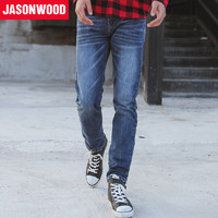 JASONWOOD 471817251 男士复古水洗牛仔裤
