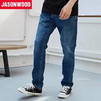 JASONWOOD 181817243 男士宽松水洗直筒牛仔裤