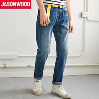 JASONWOOD 171817242 男士休闲水洗直筒牛仔裤