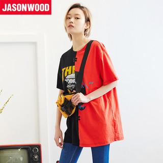 JASONWOOD 282103013 女生宽松拼色T恤