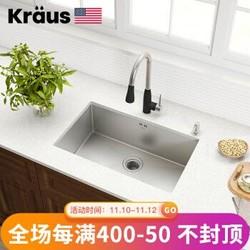 KRAUS 克劳思水槽洗菜盆1.5mm厚304不锈钢手工单盆CKHU100-28 C组合:CKHU100-28+1702SS