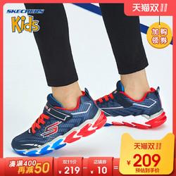 Skechers斯凯奇男童鞋新款炫酷动感运动鞋 魔术贴休闲鞋 97728L