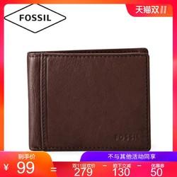 Fossil ML3254 欧美男士简约通勤短款舒适牛皮潮流钱包男