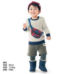 千趣会BABY婴儿童装男女宝宝起毛绒布印花卫衣D22823