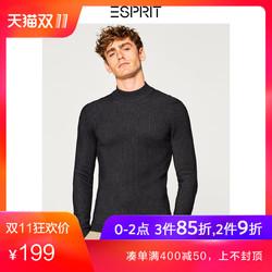 ESPRIT EDC男装秋冬新款纯色修身休闲高领针织衫长袖-098CC2I006