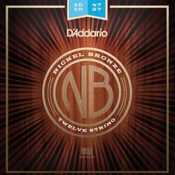 达达里奥NB1047碳素钢弦镍青铜民谣吉他弦原声木吉他琴弦美国原装进口套弦 特细款