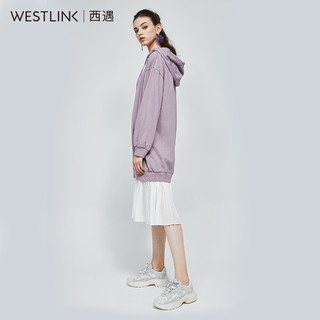 westlink 西遇 11680724 女士百褶卫衣连衣裙