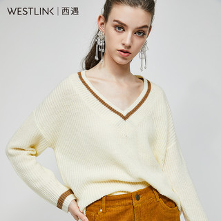 westlink 西遇 D1580757 女士长袖v领针织衫