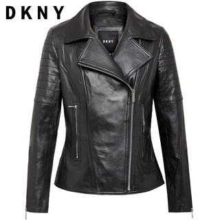 DKNY DL811101 女士短款修身皮衣
