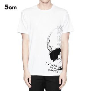 5cm 5厘米 1189U8A 男士骷髅图案印花短袖T恤