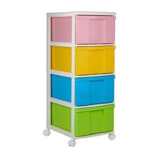 IRIS 爱丽思 多彩整理柜 带滚轮 4层