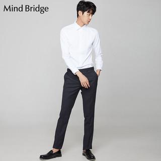 Mind Bridge MRDS0181 男士纯色长袖衬衫