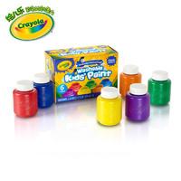 绘儿乐crayola6色可水洗绘画颜料套装幼儿童手指印画颜料54-1204